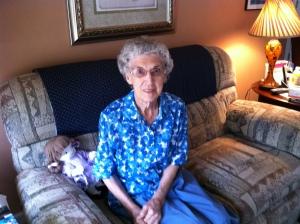 Aunt Agnes at 90