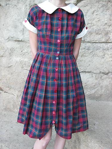Plaid_1950s_Shirtwaist_dress