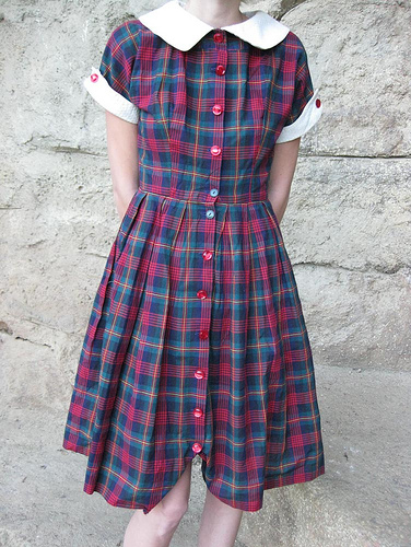 Plaid_1950s_Shirtwaist_dress